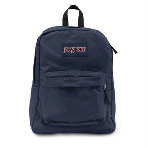 Navy Jansport Backpack